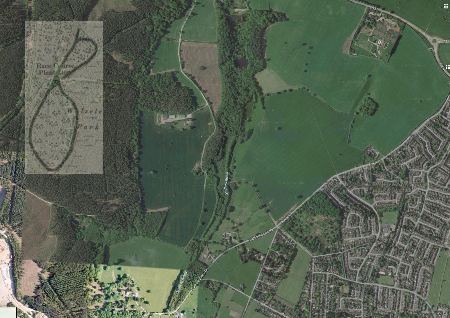 Map Of Ireland Racecourses.Rugeley Racecourse
